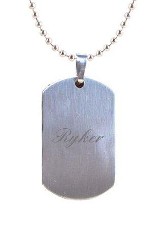 Ryker incisione Cane Tag Ciondolo In confezione regalo