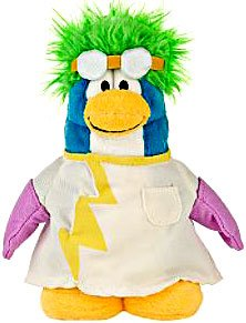 Disney Club Penguin 6.5 Inch Series 4 Plush Figure Rad Scientist (Includes Coin with Code!) - 1