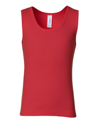 Bella + Canvas Womens Rib Tank B9080 -Red M B9080