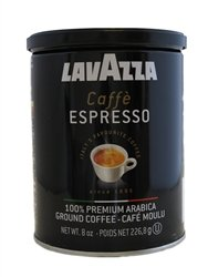 Lavazza Italian Coffee, Caffe Espresso, 100% Premium Arabica Ground Coffee, 8-Ounce Can ( Multi-Pack)