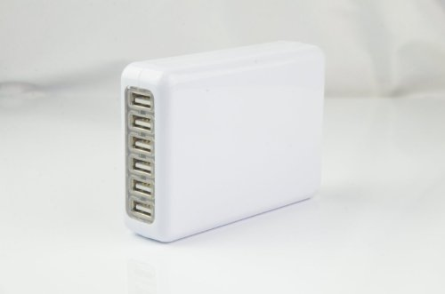 Wild-Us 6-Port Usb Travel Wall Charger For Iphone, Ipad, Samsung Galaxy Tablet, Pda Mobile Phones, Smartphones,Lg, Se, Blackberry,Bluetooth Headset, Digital Cameras, Ps2 Ps3, Music Player