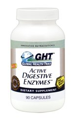 ACTIVE DIGESTIVE ENZYMES, 90 Vegi Caps, by Global Health Trax