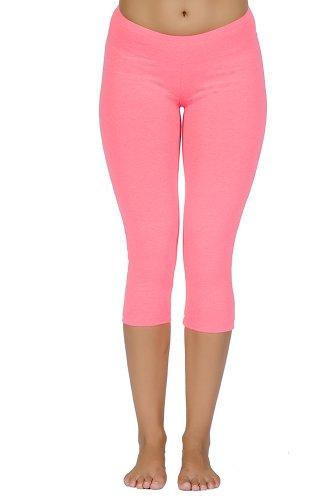 Fitwear Usa Women'S Capri Legging, Electric-Pink, Small