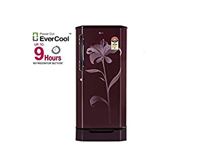 LG GL-D205XSLZ Direct-cool Single-door Refrigerator (190 Ltrs, 5 Star Rating, Scarlet Lily)