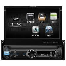 Fahrenheit Fdr-780 Single Din Digital Media Receiver With Motorized Flip-Up 7-Inch Lcd Touch Screen