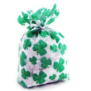 Cellophane Shamrock Goody Bags