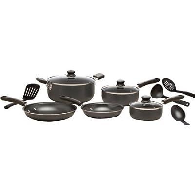 WearEver C957SC74 Admiration 12-Piece Non-Stick Cookware Set, Gray