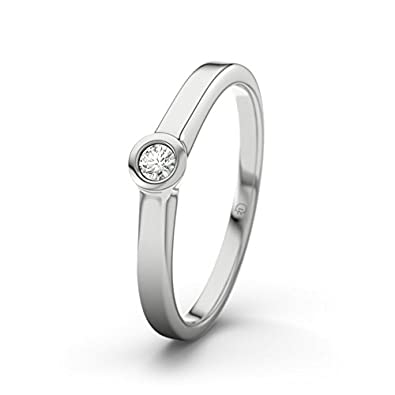 Vigo 21DIAMONDS Women's Ring VS2 0.75 Ct Brilliant Cut Diamond Engagement Ring - Silver Engagement Ring