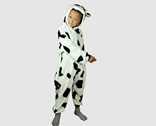 Anime Animal Milk Cow Onesie Kids In Onesie Pajamas Sleepwear (Size L) front-1030700