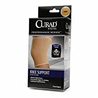 Curad Performance Series Elastic Pull-Over Knee Support, X-Large, 1 ea
