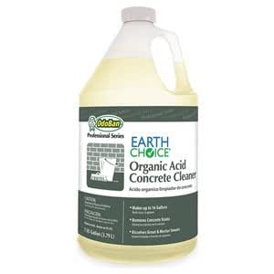 Organic acid concrete cleaner 1 gal pk4 for Best degreaser for concrete