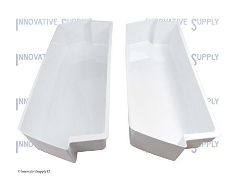 2-Pack Door Shelf Bins 2187172 for Whirlpool Kenmore Refrigerator fits PS328468 White - set of TWO (Refrigerator Two Door compare prices)