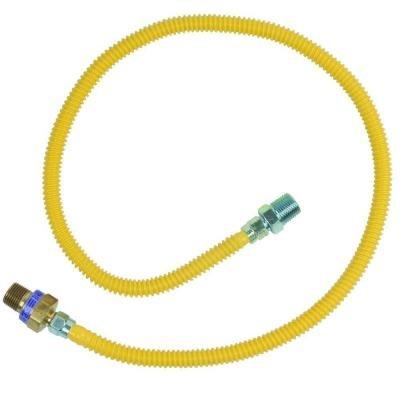 BrassCraft CSSL114E-36 X .5 in. MIP x .5 in. MIP x 36 in. SafetyPLUS Gas Appliance Connector with EFV Valve