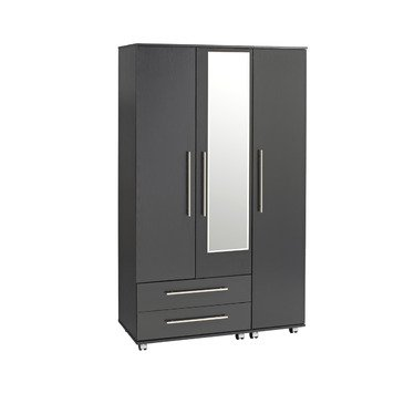Ideal Furniture 3 Door Plus 4 Drawers Wardrobe, Wood, Beech