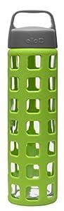 Ello PURE 20oz Glass Water Bottle (Lime)