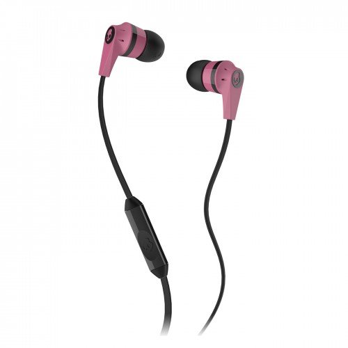 Skullcandy S2Ikdy-103 Ink'D 2.0 Earbud Headphones With Mic (Pink/Black)
