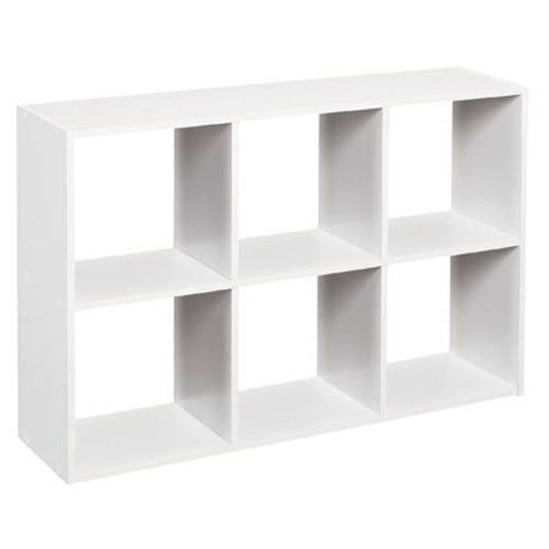 ClosetMaid 1578 Cubeicals Mini 6-Cube Organizer, White (White Storage Shelves compare prices)