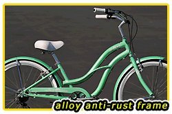 Aluminum Frame! Fito Brisa Alloy 7-speed Women - Mint Green, 26