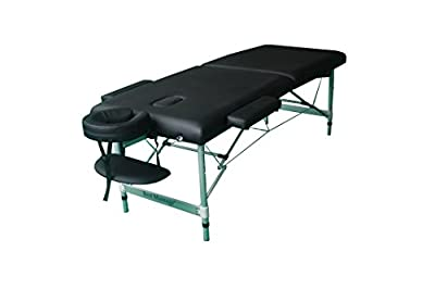 Black Light Weight Portable Massage Table w/Free Carry Case