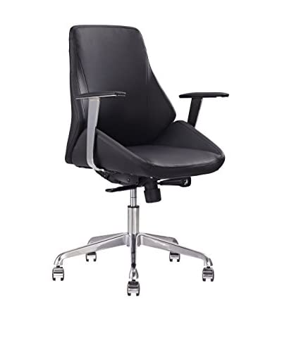 Whiteline Natasha Low Back Office Chair, Black