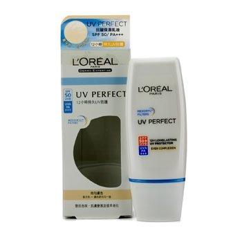 ロレアル UV パーフェクト 12H ロングラスティング UVA UVB プロテクター SPF50+ PA+++. #Even Complexion 30ml