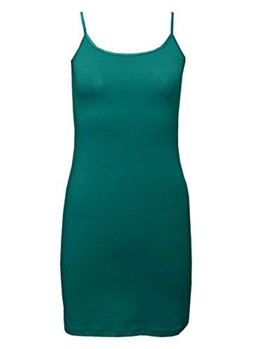 MonsterCloset Cami Cotton Spandex Dress (Medium, Green)