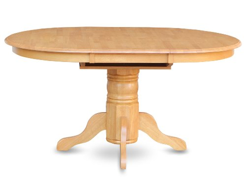 East West Furniture AVT-OAK-TP Single Pedestal Table, Oak Finish (Oak Pedestal compare prices)
