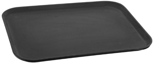 "Carlisle 1826Gr004 Fiberglass Griptite Rectangular Tray, 1.18"" X 18"", Black (Case Of 12)"