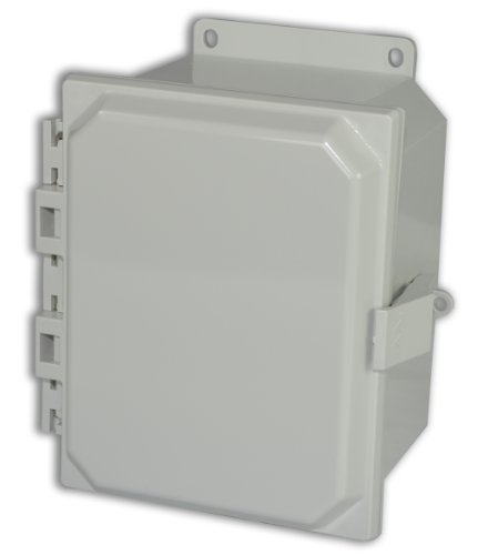 Allied Moulded Amp1084Nlf Polyline Series Polycarbonate Jic Size Junction Box, Nonmetalic Snap Latch With Polycarbonate Flange And Hinged Opaque Cover