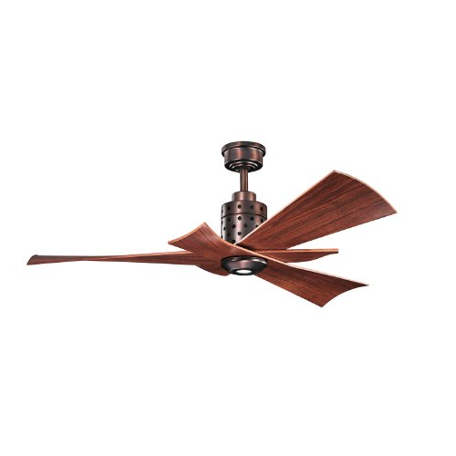 Kichler Lighting 300163Obb Frey 56-Inch Energy Efficient Ceiling Fan, Oil Brushed Bronze Finish With Walnut, Abs Blades And Integrated Downlight front-1020610