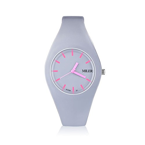 Women Silicone Band Sport Watch Fashion Brand MILER Colorful Quartz Bracelets Watches Relogio Feminino.