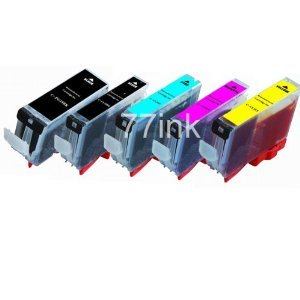 15-Pack (3 each) Ink w/ CHIP for PGI-220BK CLI-221 Canon PixmaCanon iP3600 iP4600 MP560 MP620 MX860 MP980