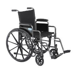 "Invacare Standard Wheelchair - 18"" x 16"" - Fixed Arm - Swingaway Footrest"