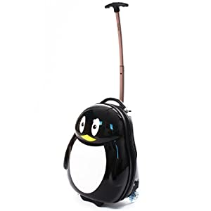 Kids Penguin Trolley Animal Designs Luggage Childrens Travel Suitcase Case 44cm