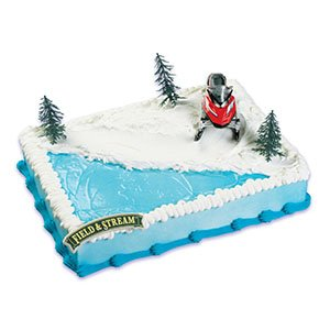 Snowmobile Cake Topper Decorating Kit