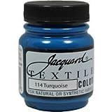 Jacquard Textile Paint 8 Oz Turquoise (Color: Turquoise, Tamaño: 8 Oz)