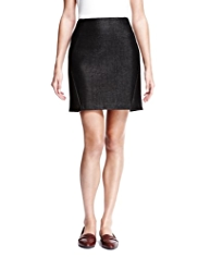 Autograph New Wool Blend Shimmer Textured Mini Skirt