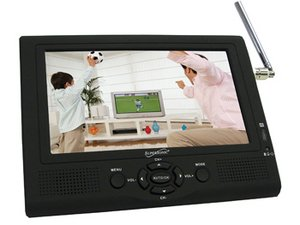 Supersonic 7 inch Portable LCD TV with ATSC Digital Tuner, AC/DC Adapter & Rechargeable Battery
