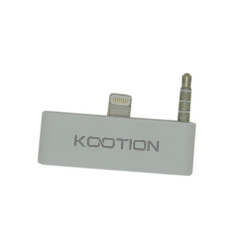 Kootion 30 Pin To 8 Pin 3.5Mm Audio Adapter Converter For Iphone 5 Ipod Touch 5 To Sound Dock Speaker, Like Bose, Jbl, Ihome, Etc. (White)