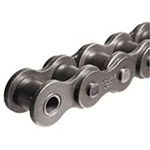 Morse 120R 10FT Standard Roller Chain, ANSI 120H, Riveted, 1 Strand, Steel, 1-1/2&#034; Pitch, 0.875&#034; Roller Diamter, 1&#034; Roller Width, 34000lbs Average Tensile Strength, 10ft Length