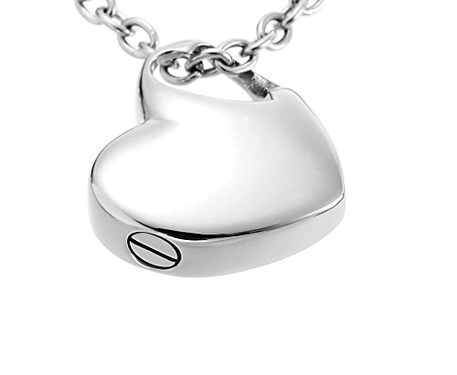 Hold My Heart Pendant Cremation Urn Jewelry Necklace with Funnel Filler Kit Ashes Keepsake Memorial (Urns Ashes Lockets compare prices)