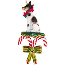 Rat Terrier Dogs Candy Cane Christmas Ornament New