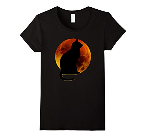 Halloween Cat and Moon T-Shirt