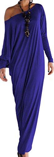 Bestime Womens Athene Style Elegant Jersey Maxi Dress(Blue)