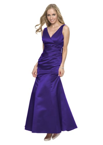 Astrapahl, Elegantes Abendkleid in Empire Linie, sehr festlich, Farbe lila, Gr.38