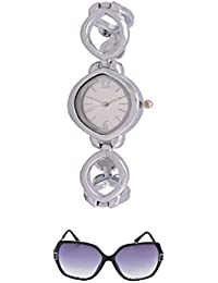Angel Combo Of Fancy Wrist Watch And Sunglass For Women - B01FWB4H8M