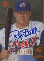 Ryan Budde Anaheim Angels 2001 Upper Deck Star Rookie Autographed Hand Signed Trading...