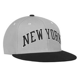 Mitchell & Ness XL Wordmark New York Knicks Gray & Black Fitted Cap by Mitchell & Ness