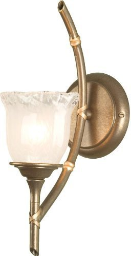 Bamboo Candle Wall Bracket in Bronze Patina