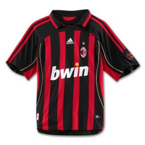 Adidas Soccer Jersey, Home of AC Milan